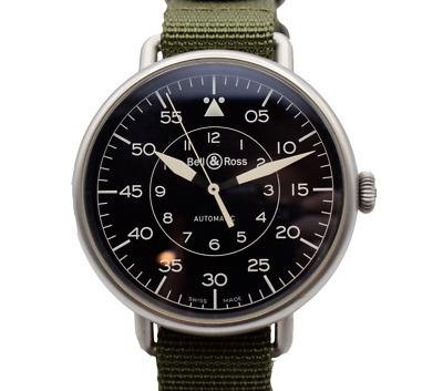 Bell & Ross BR WW1-92-S Heritage Men's 45mm Watch