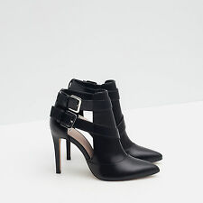 Zara High Heel Ankle Boot Style Shoes Size 40 60523c2825