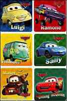 Cars Stickers x 6  Birthday Party - Favours - Mater - Lightning McQueen Party