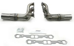 Patriot Exhaust Headers #H8020 circle track Chevy IMCA small block raw steel