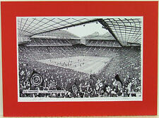 Manchester United-Old Trafford. EDIZIONE LIMITATA STAMPA dello stadio da STUART MANDRIA