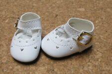 "Doll Shoes, 46mm WHITE Heart Cut for Ann Estelle, 10"" Tonner Patsy"