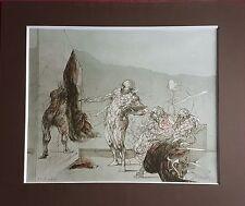 """Claude Weisbuch : num 15/130 - Lithographie :"""" Le théâtre et ces coulisses """""""
