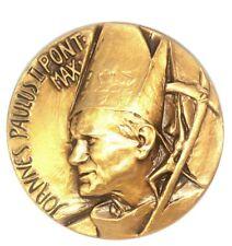 Pope John Paul Malta Papal Visit Souvenir Medal Made in Milan, Italy- Stamped