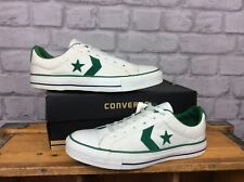 CONVERSE UK 7 EU 40 ONE STAR VINTAGE WHITE GREEN ALL STAR LO CANVAS TRAINERS