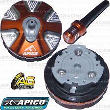 Apico Aleación Tapa De Combustible Tubo Respiradero Naranja para KTM EXC-F 450 2008 Motox Enduro