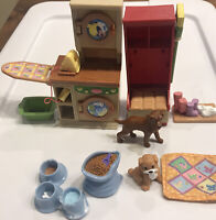 Fisher Price Loving Family Dollhouse Utility Room And Dogs