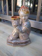 Keramik Figur Wien Werkstätte Gmunden Schleiss Junge Kerze TOP !!!