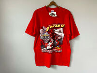 NEW Indy 500 2004 T Shirt Indianapolis IndyCar Racing Red Big Graphic y2k VTG L