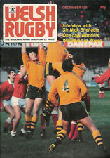 WELSH RUGBY MAGAZINE DECEMBER 1981, WALLABIES IN WALES, CARMARTHEN ATHLETIC