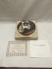 vintage Norman Rockwell 1985 The Gourmet Knowles Le Plate Bradford Exchange