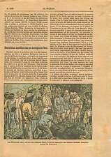 Indians Iquitos Tapir fruits Birds Peru Pérou Mission Militaire ILLUSTRATION