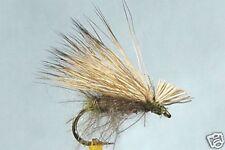 10 x Mouche Sèche Sedge CDC Cerf H12/14/16/18 mosca trout fly