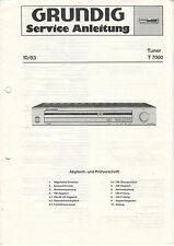 Grundig-sintonizzatore T 7000 10/83 - Istruzioni servizio Schema elettrico-b2829