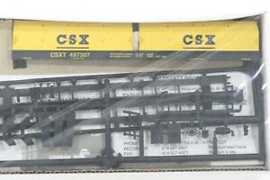 HO Walthers CSX 55ft Cushion Coil Car w/ Angled Hoods, New Kit