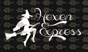 "Heckscheibenaufkleber ""Hexen Express"" Autoaufkleber,  Hexe  (1125)"