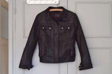 CUIR touché VELOURS  Blouson veste stylée  MAC DOUGLAS taille 38