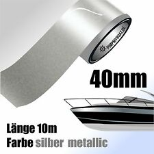 ZIERSTREIFEN 10m SILBER METALLIC 40mm Auto Boot Jetski Modellbau Vinyl
