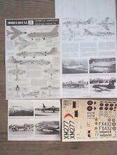 "Canberra B8/Hunter Fga9/Lightning F2/Harvard T2B ""7 Raf/Sharkm"" Modeldecal 1/72"