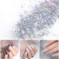 Nail Glitzer Pulver Dust Colorful Holographisch Nagel Pigment Leuchtenden Nails