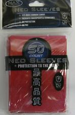 50 Max Protection foil sleeves: neo red protectors
