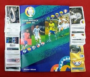 Updated Copa America 2021 374 Stickers Empty Album Complete Set