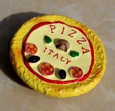 TOURIST SOUVENIR Resin 3D FRIDGE MAGNET -- Pizza , Italy