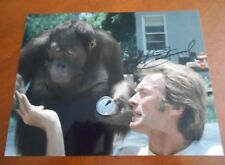"CLINT EASTWOOD "" ANY WHICH WAY BUT LOOSE W/CLYDE "" COLOR HAND SIGNED 8.5 X 11"""