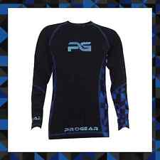 PULSE MOTOCROSS MX MOTORBIKE BASE LAYER - PROGEAR ULTRA LITE BLUE & BLACK JERSEY