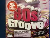 EIGHTIES. GROOVE.  5 cd  boxset. 100 tracks.