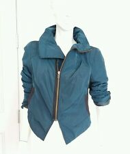 Free people light weight nylon bomber jacket sz 10 M NWT $168 turquoise