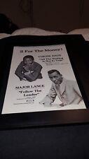 Tyrone Davis/Major Lance Rare Original Dakar Promo Poster Ad Framed!
