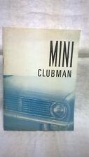 MINI CLUBMAN  1975 LIBRETTO USO E MANUTENZIONE
