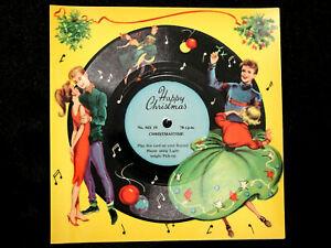 VINTAGE 1950's MELODY CHRISTMAS CARD MX19 PLAYABLE 78rpm 'CHRISTMASTIME'