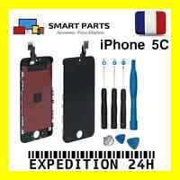 VITRE TACTILE IPHONE 5C NOIR + ECRAN LCD SUR CHASSIS + OUTILS