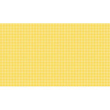 Makower Patchwork Fabric Fruity Friends New Gingham Yellow - Per 1/4 Metre