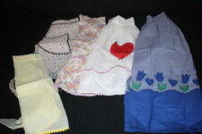 Lot Of 5 VINTAGE Hostess/Kitchen Half-Style Aprons, Multi-Color & Themed-B28