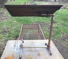 ANTIQUE VICTORIAN ADJUSTABLE WRITING DRAFTING MEDICAL TABLE CAST IRON BASE