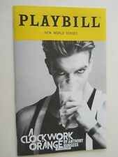 September 2017 - New World Stages Theater Playbill- A Clockwork Orange - Brooks
