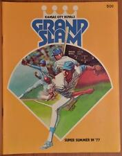 1977 Kansas City Royals Minnesota Twins Program Unscored Scorecard MLB Baseball