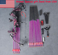 Archery Compound Bow Set Arrow Hunting Shooting Kit Gift for Women Girls M1