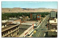 YAKIMA AVE, Wa ~ Aerial Street View Masonic Temple Newberrys Eddys Postcard