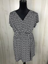 Oh Mama! Maternity Women's Blouse Top Shirt Size XL Tie Back Black