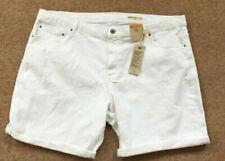 Denim White Plus Size Shorts for Women