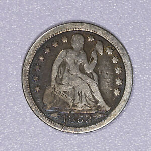 1853 Liberty Seated Dime Item#J7140