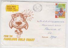 Stamp Australia 22c Waltzing Matilda 1980 Gold Coast Queensland tourist cover