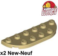 146 LEGO PIASTRA angolo tondo 4x4 NERO 2 pezzi