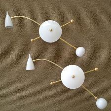 PAIR - STILNOVO Eames GOOSENECK SCONCE- CEILING LAMP LIGHTS Arteluce MID CENTURY