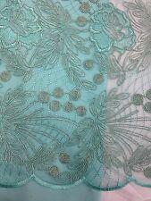 1 METRO Aqua RICAMO Net Pizzo Floreale non tessuto elasticizzato
