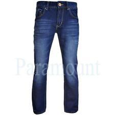 Crosshatch Cotton Indigo, Dark wash Mid Rise Jeans for Men